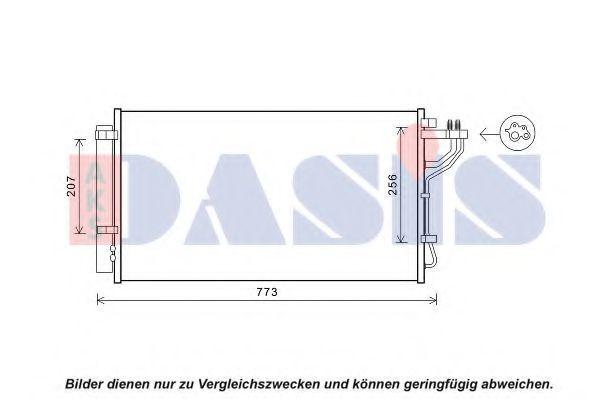 Конденсатор, кондиционер AKS DASIS 512091N