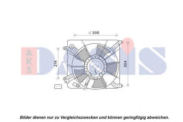 Вентилятор, охлаждение двигателя AKS DASIS 108016N