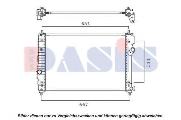 Радиатор, охлаждение двигателя AKS DASIS 150125N