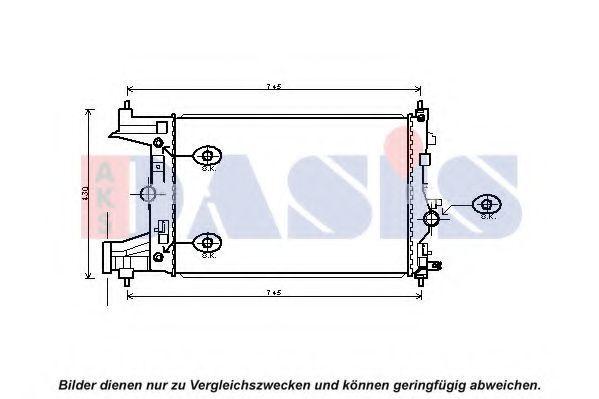 Радиатор, охлаждение двигателя AKS DASIS 150124N