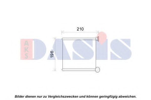 Теплообменник, отопление салона AKS DASIS 489011N
