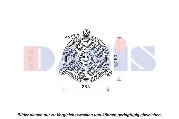 Вентилятор, охлаждение двигателя AKS DASIS 518089N