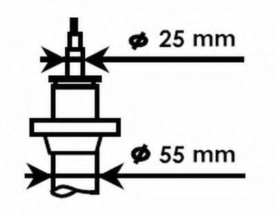 Изображение Амортизатор подвески газовый Excel-G KYB 335808: стоимость