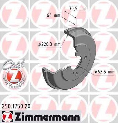 Тормозной барабан ZIMMERMANN 250175020