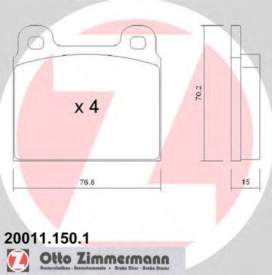 Колодки тормозные ZIMMERMANN 20011.150.1