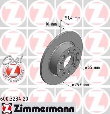 Диск тормозной ZIMMERMANN 600323420