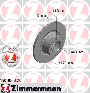 Тормозной диск ZIMMERMANN 150106820