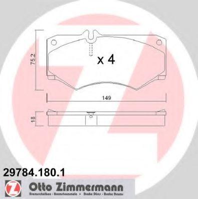 Колодки тормозные ZIMMERMANN 29784.180.1