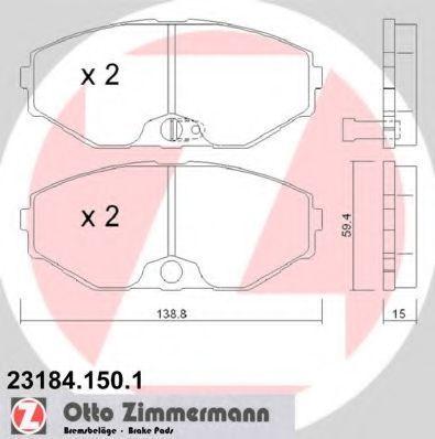 Колодки тормозные ZIMMERMANN 231841501