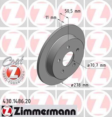 Тормозной диск ZIMMERMANN 430148620