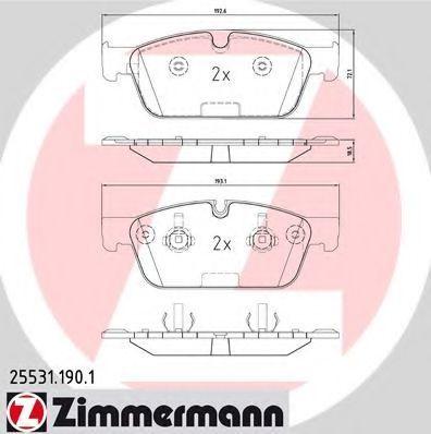 Колодки тормозные ZIMMERMANN 255311901