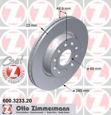 Изображение Диск тормозной ZIMMERMANN 600.3233.20: стоимость