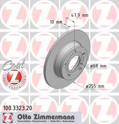 Диск тормозной ZIMMERMANN 100332320