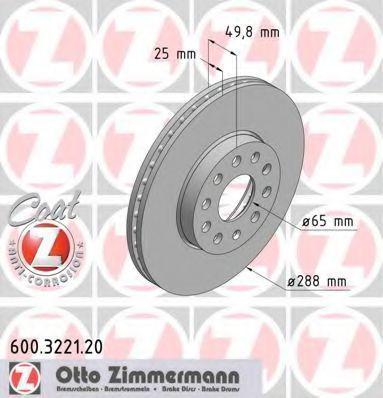 Диск гальмівний ZIMMERMANN 600322120