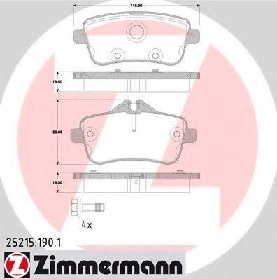 Колодки тормозные ZIMMERMANN 252151901