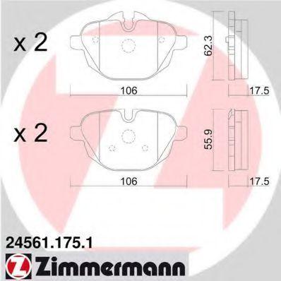 Колодки тормозные ZIMMERMANN 245611751