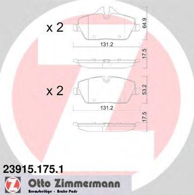 Колодки тормозные ZIMMERMANN 239151751
