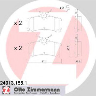 Колодки тормозные ZIMMERMANN 240131551