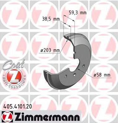 Барабан тормозной ZIMMERMANN 405.4101.20