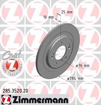 Диск тормозной ZIMMERMANN 285352020