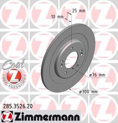 Тормозной диск ZIMMERMANN 285352620