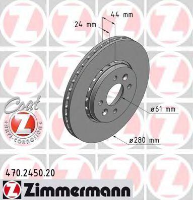 Диск тормозной ZIMMERMANN 470245020