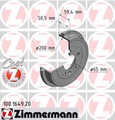 Барабан тормозной ZIMMERMANN 100164920