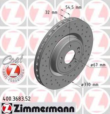 Диск тормозной COAT Z ZIMMERMANN 400368352
