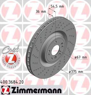 Диск тормозной COAT Z ZIMMERMANN 400368420