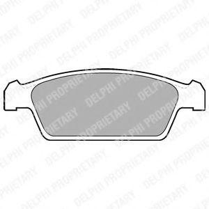 Колодки тормозные DELPHI LP1100
