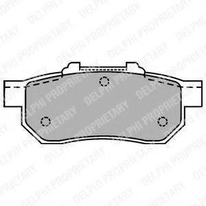 Колодки тормозные DELPHI LP1456