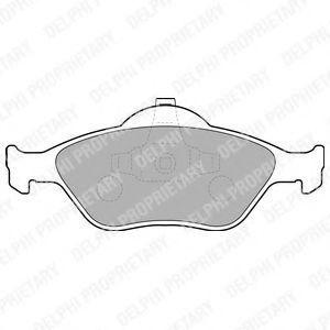 Колодки тормозные DELPHI LP1469