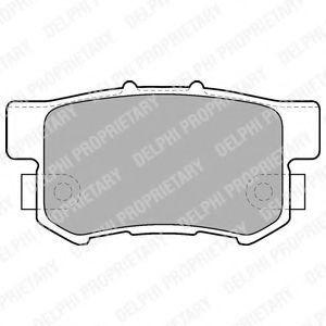Колодки тормозные задние DELPHI LP1507