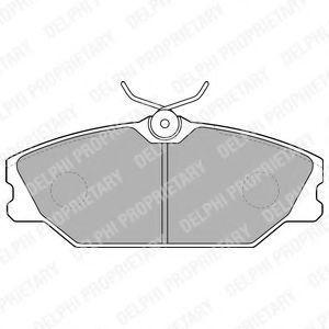 Колодки тормозные DELPHI LP1524