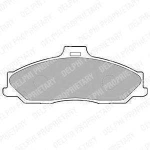 Колодки тормозные DELPHI LP1555
