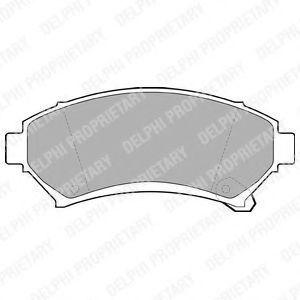 Колодки тормозные DELPHI LP1609