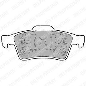 Колодки тормозные DELPHI LP1701