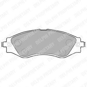 Колодки тормозные DELPHI LP1816