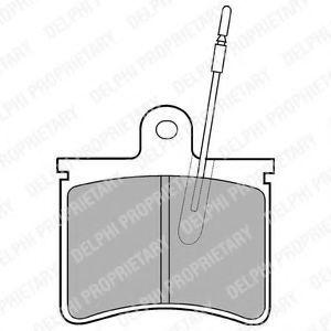 Колодки тормозные DELPHI LP228