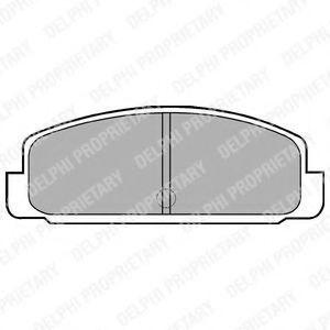 Колодки тормозные DELPHI LP401