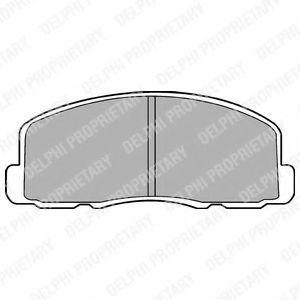 Колодки тормозные дисковые DELPHI LP 458