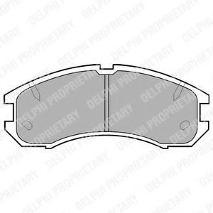 Колодки тормозные DELPHI LP595