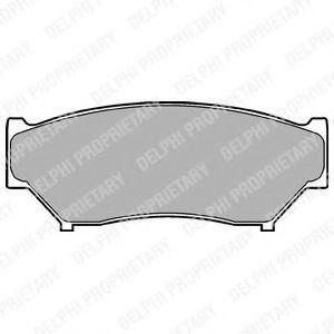 Колодки тормозные DELPHI LP967
