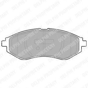 Колодки тормозные DELPHI LP1895