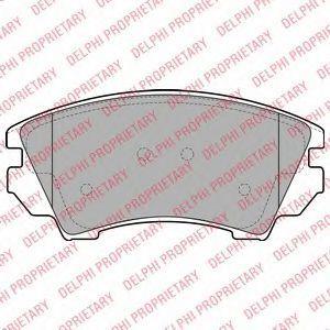 Колодки тормозные передние DELPHI LP2081