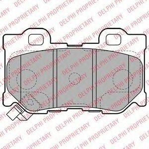 Колодки тормозные передние DELPHI LP2157