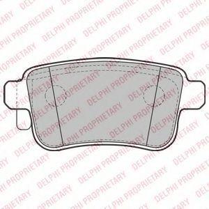 Колодки тормозные задние DELPHI LP2126