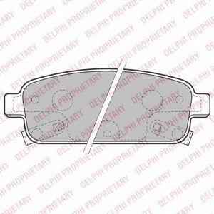 Колодки тормозные задние DELPHI LP2167
