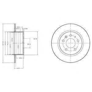 Диск тормозной DELPHI BG2240