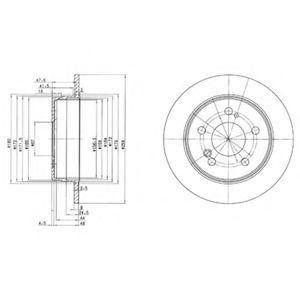 Диск тормозной DELPHI BG 2291
